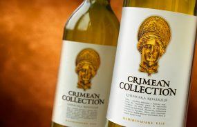 Дизайн этикетки для вин CRIMEAN COLLECTION